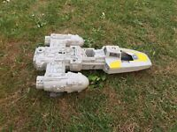 Star Wars y wing original ship, vintage