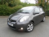 2010 TOYOTA YARIS 1.3 TR 5 DOOR LOW MILEAGE £30 TAX VERY ECONOMICAL & RELIABLE
