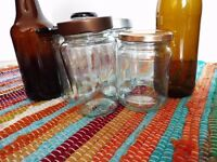Glass jars collection, ideal for DIY & wedding / events decor. Different sizes & shapes