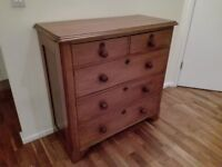 Solid Oak Antique Chest of Drawers