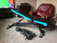 Men's health. Active+ multi position. Folding weight bench.