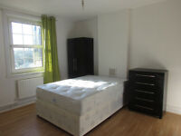 **NO DEPOSIT REQUIRED**LARGE DOUBLE ROOM TO RENT 2 MIN FROM BOW / MILE END TUBE STATION (ZONE-2 AREA