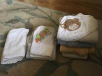 Newborn towels, blanket etc