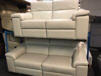 NEW - EX DISPLAY LEATHER SOFOLOGY MAURIZIO 3 SEATER SOFA 70% Off RRP