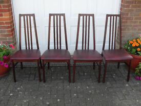 4no Dining Room Chairs in Mahogany