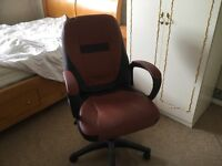 Leather look desk chair