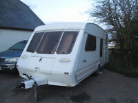 SMART LOOKING FLEETWOOD COLCHESTERR 1650-4 A 4 BERTH TOURER WITH AWNING ETC