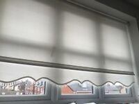 White beaded roller blinds