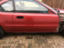 Genuine Honda Prelude 4th Gen 1992-1996 O/S Drive Side Door Cassis Red R-82P