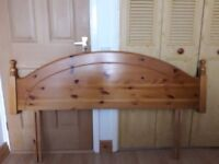 King Size Pine Headboard - excellent condition