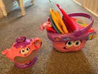 Leapfrog teapot & Picnic basket interactive V-Tech toys