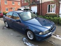 BMW E39 530D SE MANUAL - TOPAZ BLUE / SAND LEATHER / SPARES OR REPAIRS / EXPORT / PROJECT / BARGAIN!