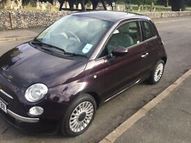 fiat 500 1.2 lounge 2013(63reg)OLNY 4,200 miles with full fiat service histroy one owner from new