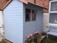 7x5 garden shed hybrid apex and base