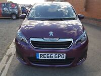 2017 PEUGEOT 108 PETROL 1.0 ONLY 4952 MILES