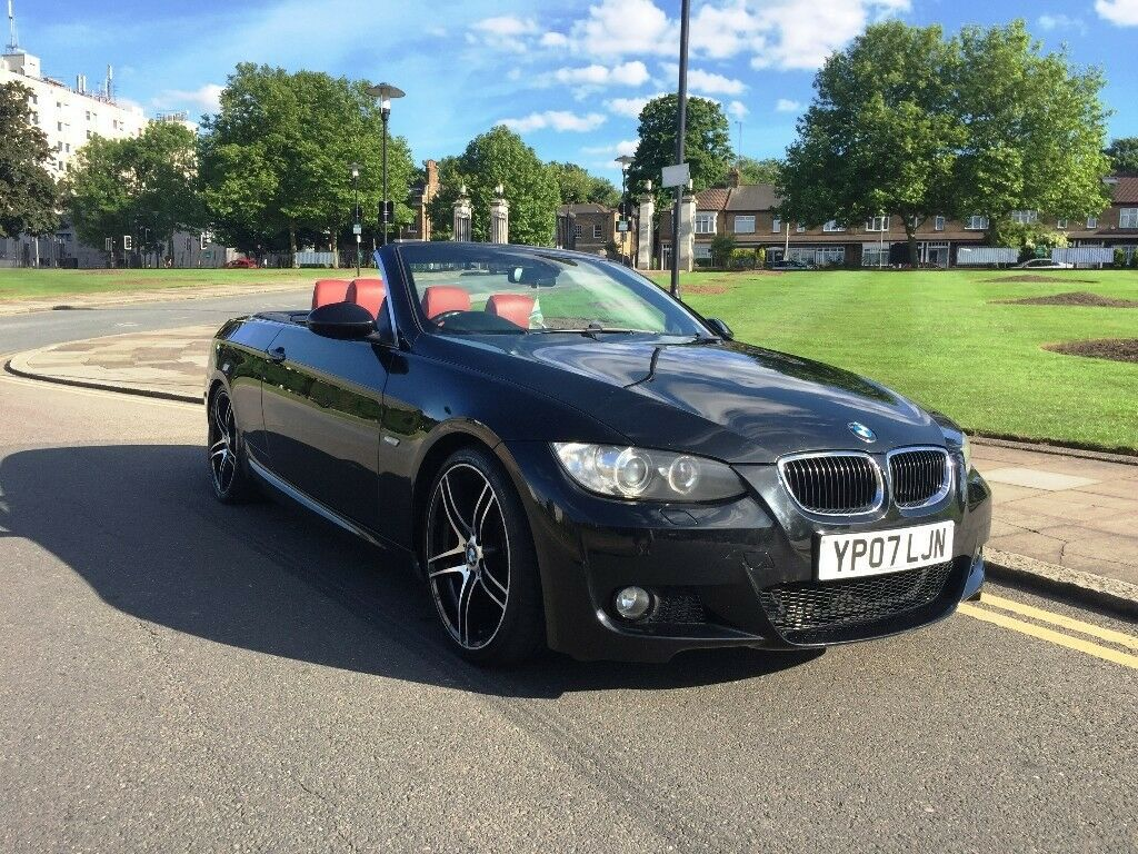 07 plate bmw 325i auto convertible red leather e92 e93 m. Black Bedroom Furniture Sets. Home Design Ideas