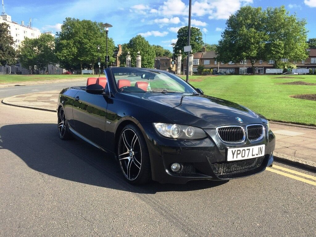 07 plate bmw 325i auto convertible red leather e92 e93 m sport kit history heated seats. Black Bedroom Furniture Sets. Home Design Ideas