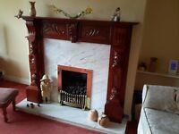 Mahogany Fire Surround - Perfect Condition