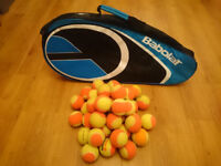 Mini Tennis Orange training balls and Babolat Tennis bag