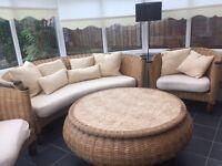 Beautiful conservatory wicker furniture