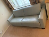 S.King 3 Seater Pure Leather Sofa Bed