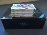 Nintendo Wii including 5 games
