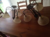 CEILING LIGHT FITTINGS - 3 ARM PENDANT STYLE