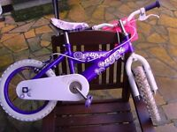 £15 for 14inch girls bike included Mickey MOuse helmet,good working order!!