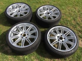 Bmw 335 alloys with nearly new tyres