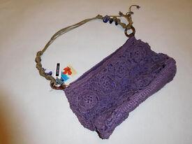 BNWT ladies handbag lilac zipped bag