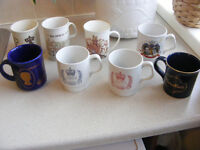 14 Commemorative mugs. Royals, Battle of Britain, Whisky.