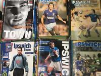 120 Ipswich Town Football Programmes