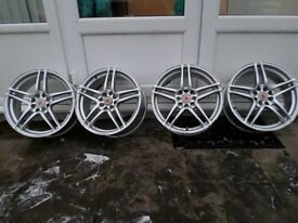 Wolfrace alloys multi fit! 17s rover dturbo 306 106 206 saxo polo