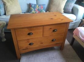 Varnished Pine TV Cabinet