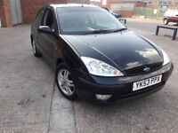 very nice clean black ford focus, mot expiring MARCH 2019****