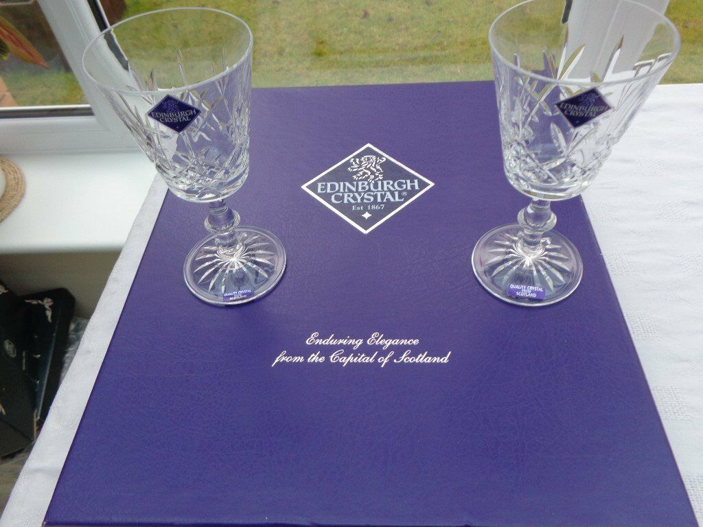Set of 6 brand new, boxed, Edinburgh Crystal Wine Glasses