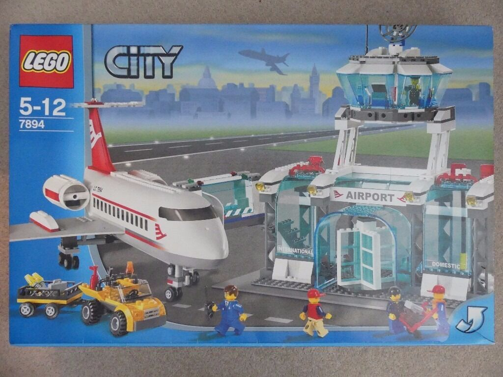 Sold Used Toy Lego City Airport 7894 Boxed With Instructions In