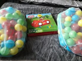 Car ball pit and balls.