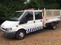 Ford Transit dble cab Tipper
