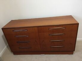 G-Plan Chest of Drawers, 142cm long x 44.5cm deep x 76cm high. £150 ono. Good used condition.