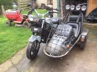 Motorbike and Sidecar 1987 lovely bike