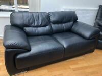2 Seater Leather Sofa (1 piece sofa)