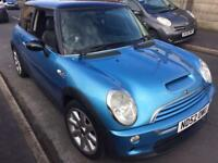 2003 52reg Mini Cooper S 1.6 Super Charged Blue