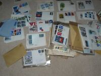 COLLECTION OF 1960's /70's/80's 1st day cover stamps mainly british and blocks of unused stamps