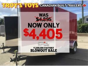 2018 Canadian Trailer Company FACTORY BLOWOUT! 7X10 V-Nose Cargo