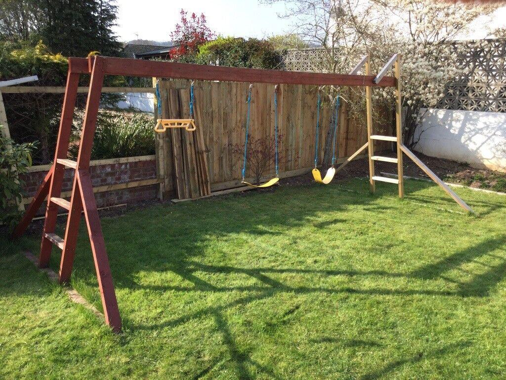 Large Wooden Garden Activity Frame With Swings Rapeze Monkey Bars In Lisvane Cardiff Gumtree