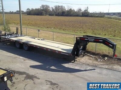 Carhauler Gooseneck 10 Ton Deckover Hd Equipment Trailer 30 Ft Flat Bed 255