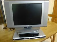 PORTABLE TELEVISION,+ DIGI BOX+ DVD PLAYER