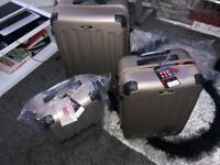 Blue star 3 piece luggage set