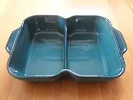 Denby Greenwich (green) Rectangular divider serving dish